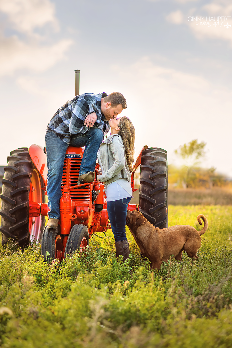 Couple On Tractor : Jenessa kenny engagement rustic country and tractors